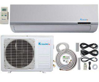 18, 000 Btu Klimaire 13 SEER Ductless Mini Split Air Conditioner   220 Volt + 16 Ft Installation Kit: Single Room Air Conditioners: Kitchen & Dining