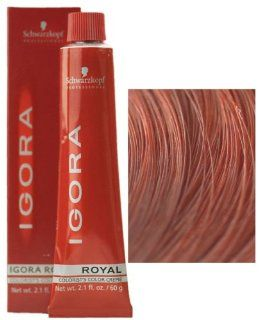 Schwarzkopf Professional Igora Royal Hair Color   7 887 Med Int Red Coppr Blond : Chemical Hair Dyes : Beauty