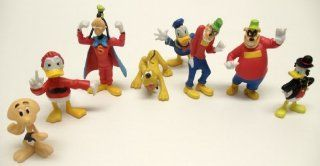 Duck Tales Figure Play Set Featuring Scrooge McDuck, Donald Duck, Pluto, Beagle Boys, and Super Goofy: Toys & Games