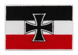 German Navy Jack Flag Embroidered Patch Iron Cross Germany Biker Emblem Clothing