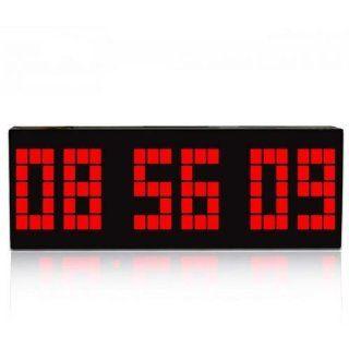 Digital Large Big Number Jumbo LED snooze wall desk Retro alarm Clock with calendar Red Light Electronics