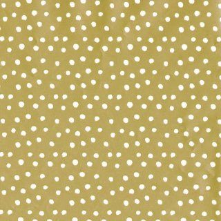 Entertaining with Caspari Continuous Gift Wrapping Paper, Small Dots, Gold, 8 Feet, 1 Roll   Christmas Wrapping Paper