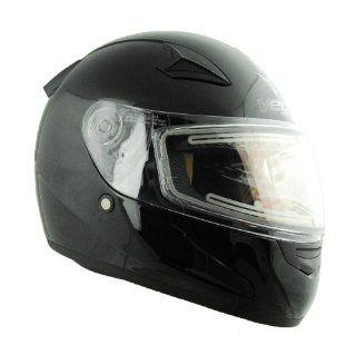 Vega X 888 Electric Snow Full Face Helmet (Gloss Black, X Small) Automotive