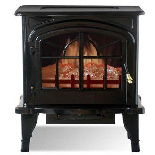 Yosemite DF EFP888 Clovis Free Standing Faux Wood Burning Stone Electric Fireplace   Heaters