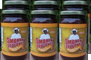 Spicy Barbecue Sauce by Smokin' Joe Jones Spicy Flavor 6 Pack of 18 oz. jars. Cayenne and black pepper added for a little heat, no habanero or jalapeno peppers used, so this won't burn your lips. Sweetened with wild honey. No brown sugar means this