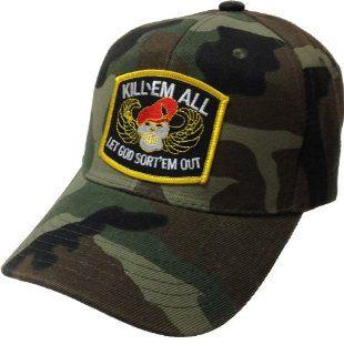Kill Em All Let God Sort Them Out Camo Ball Cap Hat