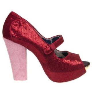 Irregular Choice Sightseeing Platform Womens Mary Jane High Heel Pump, Red, 9 M US Women Pumps Shoes Shoes