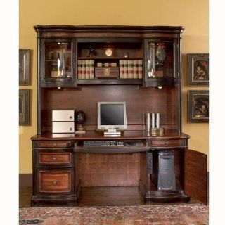 Pergola Double Pedestal Kneehole Credenza Desk   Home Office Desks