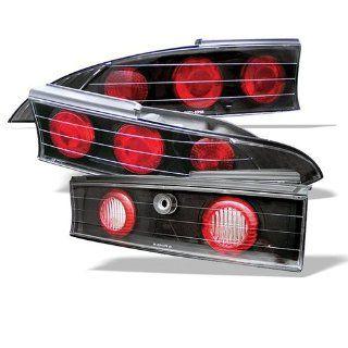 Mitsubishi Eclipse 95 96 97 98 99 Altezza Tail Lights + Hi Power White LED Backup Lights   Black (Pair) Automotive