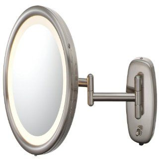 Kimball and Young 903ABN 5X Pivot Arm Lighted Wall Mirror, Brushed Nickel