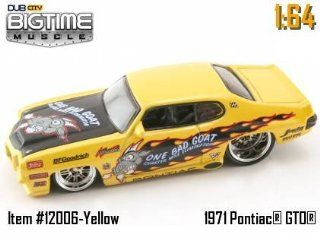 """Jada Dub City Big Time Muscle Yellow """"One Bad Goat"""" 1971 Pontiac GTO 164 Scale Die Cast Car Toys & Games"""