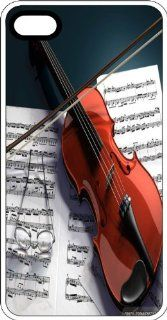 Violin And Bow Laying On Musical Score Clear Plastic Case for Apple iPhone 4 or iPhone 4s: Cell Phones & Accessories