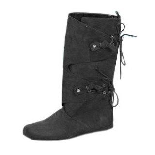 Men's Black Renaissance Costume Boots (Small 8 9): Clothing Accessories Novelty Special Use Costumes Accessories Costumes Men: Shoes
