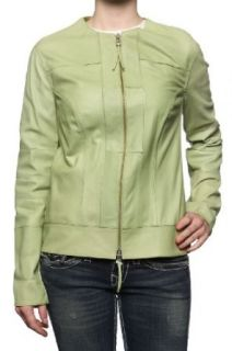 Cristiano di Thiene Leather Jacket CATCH, Color: Green, Size: 38 at  Women�s Clothing store: Leather Outerwear Jackets