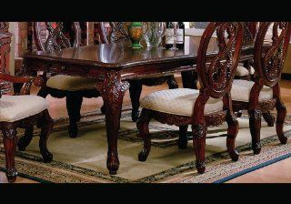 Master Dining Room Table Birch Wood Carved Ornate Style