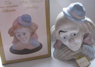 "PAUL SEBASTIAN COLLECTION ""FEELINGS"" FINE PORCELAIN CIRCUS SAD CLOWN FIGURINE, GIFT BOXED : Everything Else"