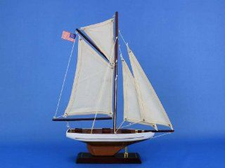 "Columbia 16""   Wooden Sailboat Centerpiece   Model Sailing Yacht   Scale Model Yacht   Model Sailing Yacht   Wooden Model Yacht   Not A Model Ship Kit   Hobby Pre Built Model Boats"