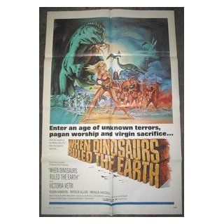 WHEN DINOSAURS RULED THE EARTH / ORIGINAL U.S. 1 SHEET MOVIE POSTER WHEN DINOSAURS RULED THE EARTH Entertainment Collectibles