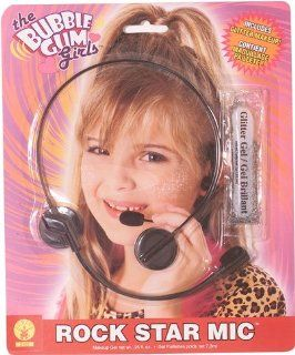 Child's Rock Star Faux Microphone Headset: Toys & Games