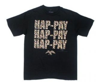 Camoflauge Hap Pay   Duck Dynasty Youth T shirt : Youth Small (6 8)   Black: Clothing