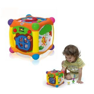 Generic 936 Magic Cube Model Multi function Toy Storage and Sorter Box with Puzzle,Music,Toy Blocks and Telephone for One and a Half Year Old Above Baby: Toys & Games