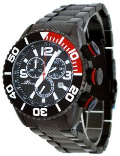 Adee Kaye #AK5434 MIPB Men's Black IP Stainless Steel Sports Chronograph Watch Watches