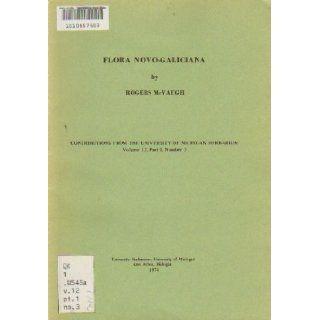 Flora Novo Galiciana Rogers McVaugh Books