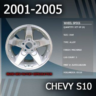"""2001 2005 Chevy S10 Factory 16"""" Replacement Wheels Set of 4 Automotive"""