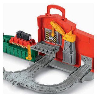 Thomas the Train: TrackMaster Cranky and Flynn Save the Day Playset: Toys & Games