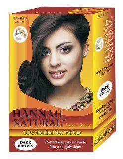 Hannah Natural 100% Chemical Free Hair Dye, Dark Brown, 100 Gram  Massage Oils  Beauty