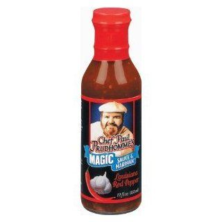 Chef Paul Prudhomme's Magic Seasoning Blends ~ Magic Sauce & Marinade   Louisiana Red Pepper : Gourmet Marinades : Grocery & Gourmet Food