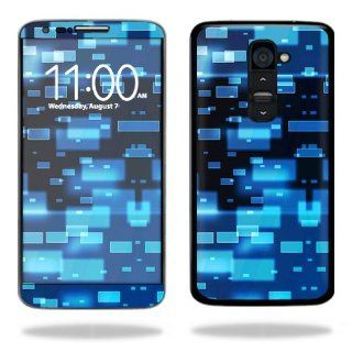 MightySkins Protective Vinyl Skin Decal Cover for LG G2 T Mobile Sticker Skins Space Blocks: Cell Phones & Accessories