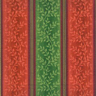 Ideal Home Range Luncheon Decorative Paper Napkins, Noblesse in Red and Green, 20 Count: Kitchen & Dining
