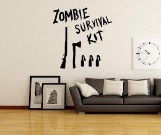 Stickerbrand Vinyl Wall Art Decal Sticker Zombie Survival Kit OS_MB983m   Wall Decor Stickers