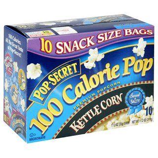 Pop Secret Popcorn, 100 Calorie Packs, Kettle Popcorn, 10 Count Packages (Pack of 6)  Microwave Popcorn  Grocery & Gourmet Food