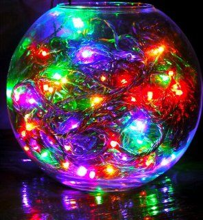 120 high quality HDIUK brand LED Multi Action Supabrights Christmas/party Lights, bright Multi Coloured lights, With Green Cable, and control box.   Led Household Light Bulbs