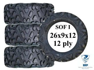 RP SOF (Special Operations Forces) Series I High Load 12 PLY Rated Off Road Tire (BLACK) for ATV and UTV: Automotive