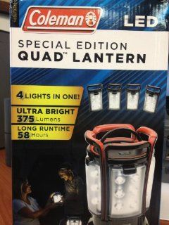 Coleman LED Special Edition Quad Lantern Black  Camping Lanterns  Sports & Outdoors