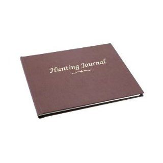 """BookFactory� Hunting Journal / Hunting Log Book / Notebook   96 Pages, Tan Bonded Leather Cover, Smyth Sewn Hardbound, 8 7/8"""" x 7"""" (JOU 096 CCR XT HUNT XTT44)  Record Books"""