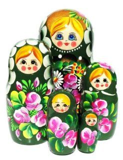 """Milena Nesting Doll (5 pc) 7""""H in Green Toys & Games"""