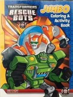 Transformers Rescue Bots Jumbo Coloring and Activity Book 64 Pages (Blue Cover) Toys & Games
