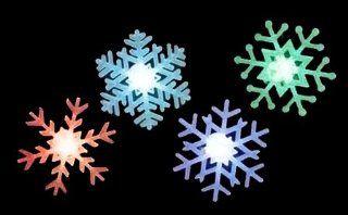 12 Icy Crystal B/O LED Lighted Snowflake Christmas Window Decorations   Seasonal Celebration Lighting