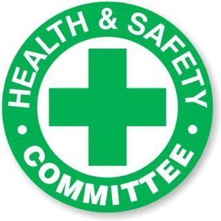 "Health & Safety Committee, Spot a HatTM Reflective Hard Hat & Helmet Labels   Conformable   Spot Colors, 5 Decals / Pack, 2"" x 2"""