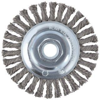 "CGW 60520 Knot Wire Wheel Brush, Fast Cut, Carbon, 4"" Diameter, 0.020mm Diameter, 5/8"" 11 Arbor, 20000 rpm (Pack of 1): Abrasive Wheel Brushes: Industrial & Scientific"