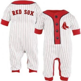 Boston Red Sox Baby Uniform Pinstripe Coveralls, 6 9 mos: Clothing