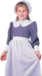 Girls Halloween Colonial Pilgrim Pioneer Play Costume S Girls Small (3 4 years) Toys & Games