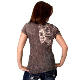 Hot Leathers Sugar Skull Ladies Sublimation T Shirt (Multi, XX Large) Automotive