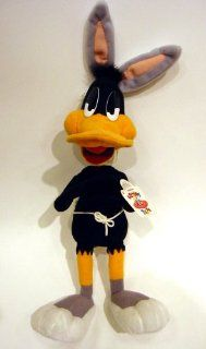 "Warner Bros. Looney Tunes 15"" DAFFY DUCK Plush in Rabbit Costume Toys & Games"