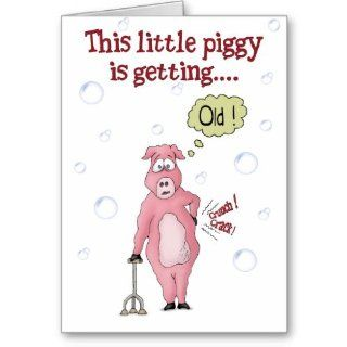 Funny Birthday Cards: This little piggy : Greeting Cards : Office Products