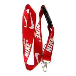Red Nike Lanyard : Identification Badges : Office Products
